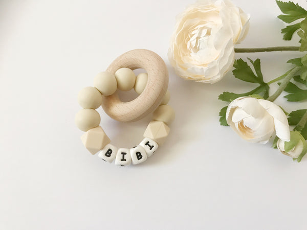 SIMPLY Personalized DUO Teething Ring - Grace and Parker