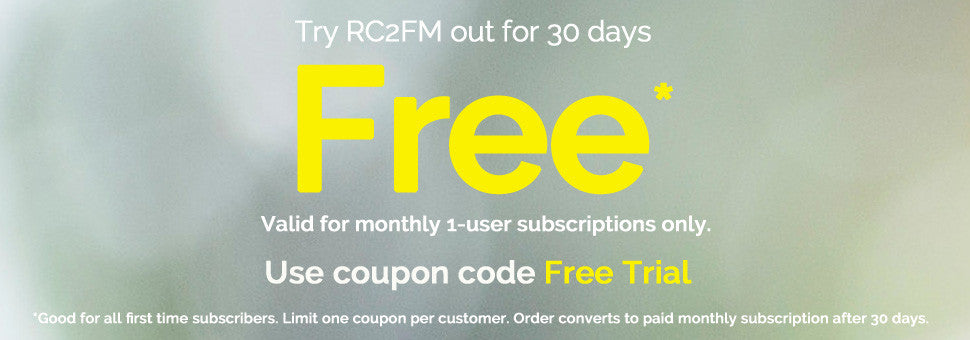 Free 30-Day trial. Use coupon code Free Trial