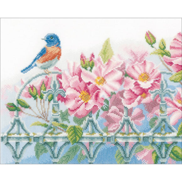Wren & Flowers Counted Cross Stitch Kit