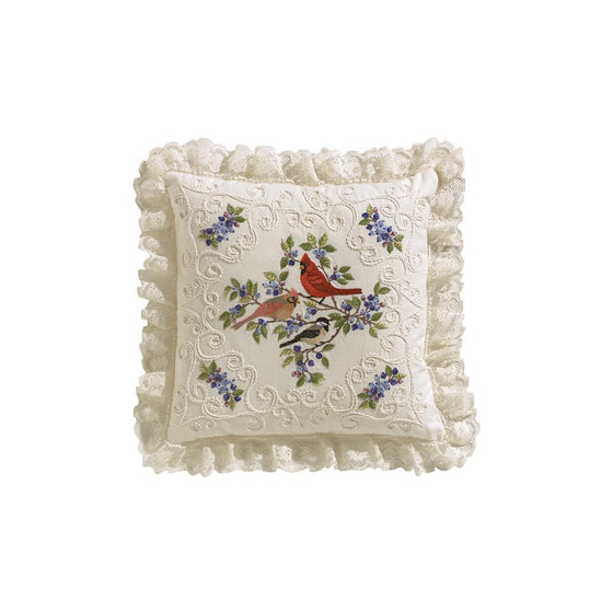 "Birds & Berries Candlewicking Embroidery Kit Stitched in Thread - 14"" x 14"""