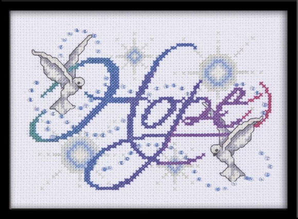 Hope Counted Cross Stitch Kit-5