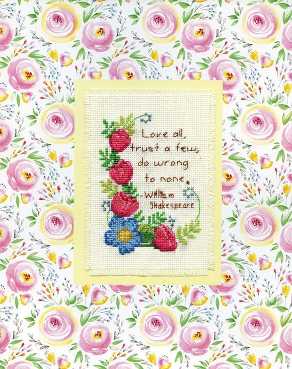 Love All Stitch & Mat Counted Cross Stitch Kit
