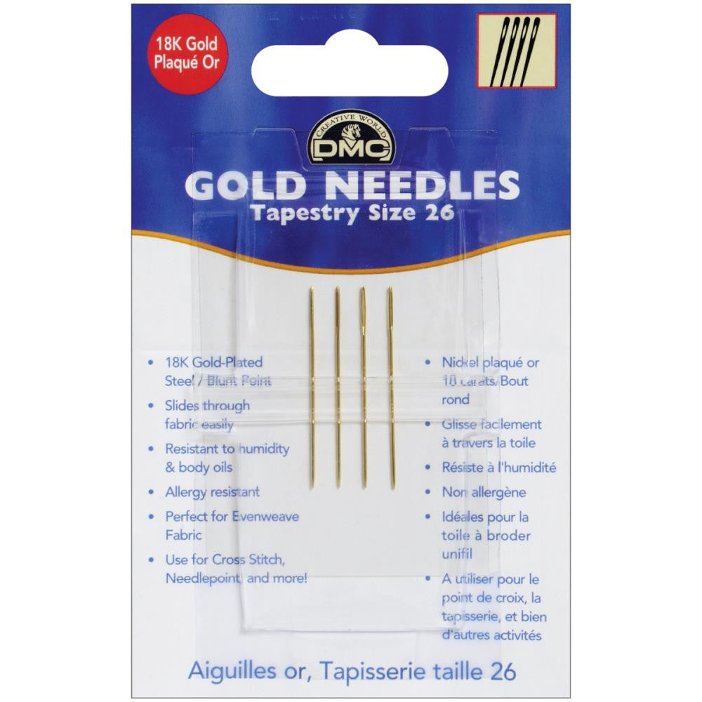 Gold Tapestry Hand Needles-Size 26 4/Pkg