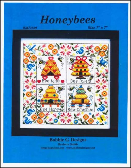 Honeybees Cross Stitch Pattern