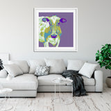 Purple Textured Cow