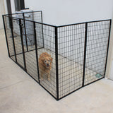Dog Fence 8 Super Heavyduty Fencing Panels Wall Attachable - PetJoint