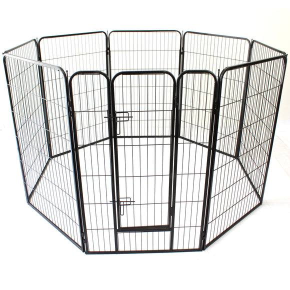 XL Extra Large Pet Enclosure Playpen Heavy Duty Fence 8 Panels / Gate - PetJoint