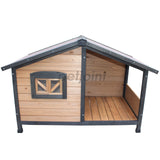 Small Dog House With Balcony Outdoor Pet Kennel Jack Russell - PetJoint