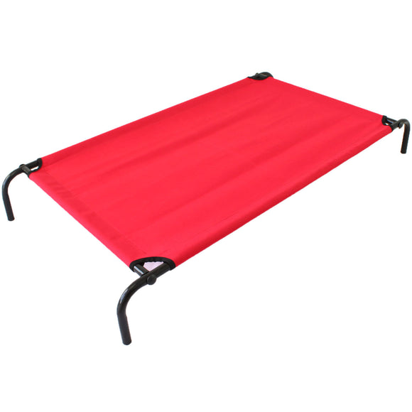 Heavy Duty Pet Dog Bed Trampoline Hammock Cat Puppy - Red Canvas - PetJoint