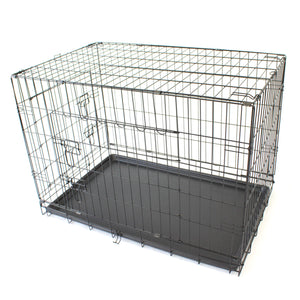 "36"" Large Dog Crate Metal Cage Kennel House Training Puppy Cat Rabbit - PetJoint"