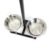 XL Raised Pet Dog Food Bowls Adjustable Height for Greyhound - PetJoint