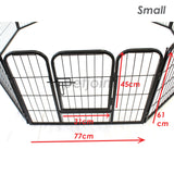 Small Pet Puppy Dog PlayPen HeavyDuty Enclosure Cage Fence - PetJoint