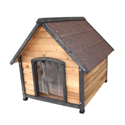 Wooden Puppy Dog Kennel Small House Indoor Outdoor Pet Home Peak
