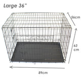 Pet Dog Crate Foldable Metal Cage Kennel Portable Pup Cat Rabbit House - PetJoint