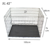 Metal Dog Cage + Crate Divider - Kitten Cat Rabbit Hamster Pet Kennel - PetJoint
