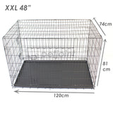 "48"" XXL Metal Dog Cage Crate Kennel House Training Puppy Cat Pets - PetJoint"