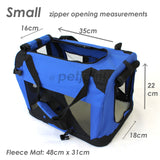 Pet Soft Crate Portable Puppy Dog Cat Carrier Travel Cage Small #2 - PetJoint