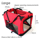 Pet Soft Crate Portable Puppy Dog Cat Carrier Travel Cage Large - PetJoint