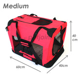 Pet Soft Crate Portable Puppy Dog Cat Carrier Travel Cage Medium - PetJoint
