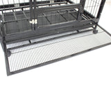 HeavyDuty Metal Pet Crate + Waterproof Polyester Cover – Dog Cat House - PetJoint