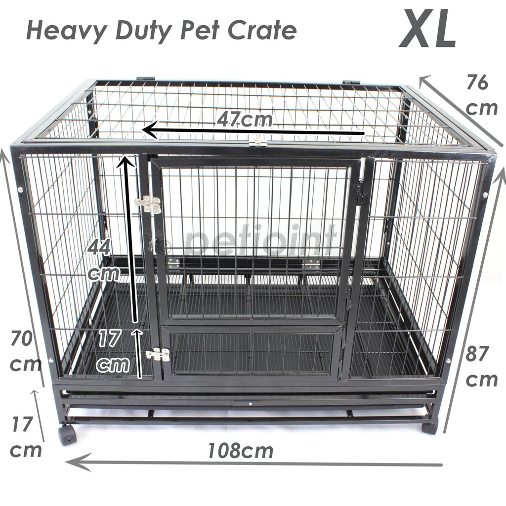 42 Quot Xl Heavy Duty Metal Pet Cage Crate Kennel Puppy Dog