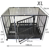 Super Heavy Duty Pet Puppy Dog Crate + Waterproof Mattress - PetJoint