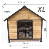 Extra Large Wooden Dog House Indoor Outdoor Pet Labrador Kennel - PetJoint