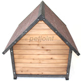Wooden Puppy Dog Kennel Small House Indoor Outdoor Pet Home Peak Roof - PetJoint
