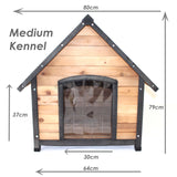 Dog Kennel House Large Timber Wood Pet Puppy Home Optional Accessories - PetJoint