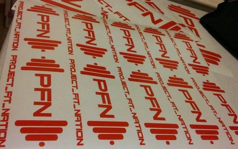 PFN Weights - Sticker 12 INCH