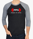 PFN Unisex 3/4-Sleeve - Black/Gray