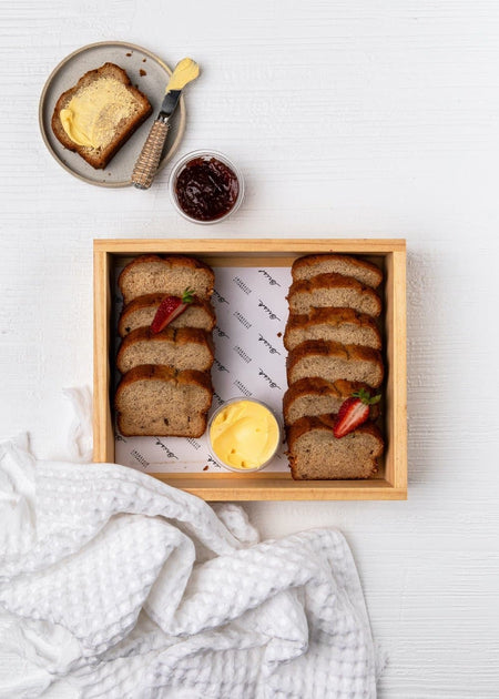 Banana Bread with Butter & Jam