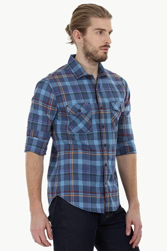 Twin Pocket Check Shirt