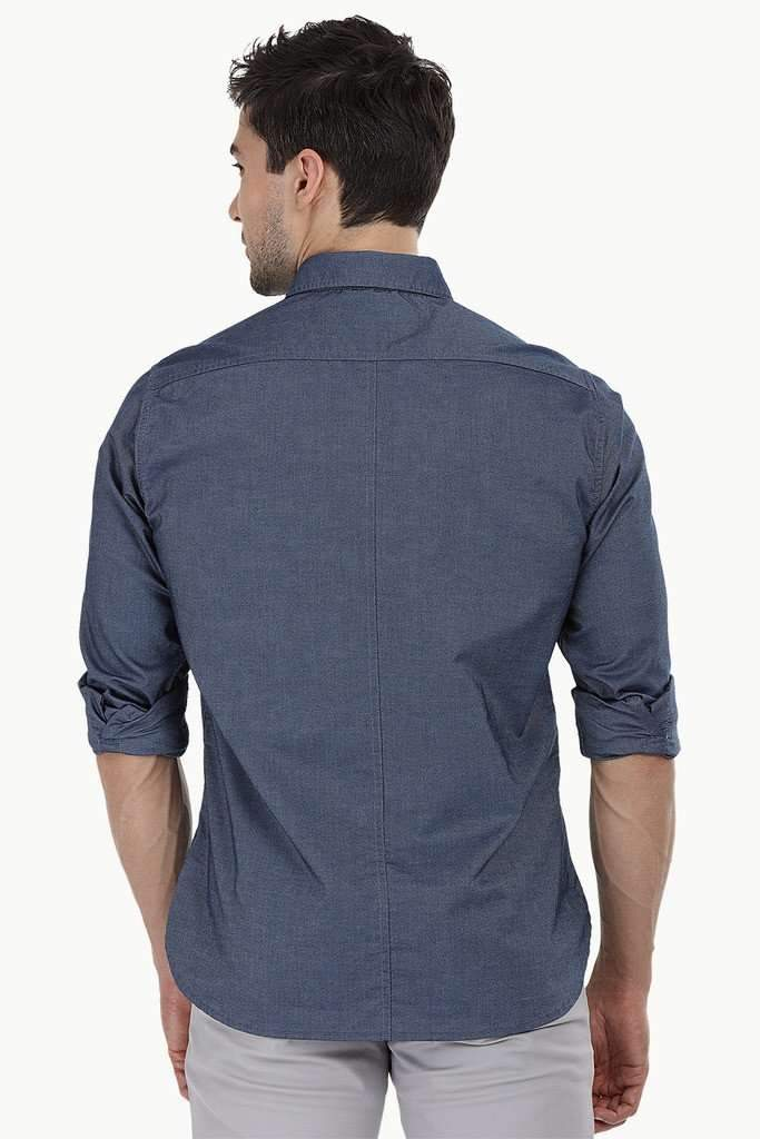 Shirt with Box Pleated Pockets