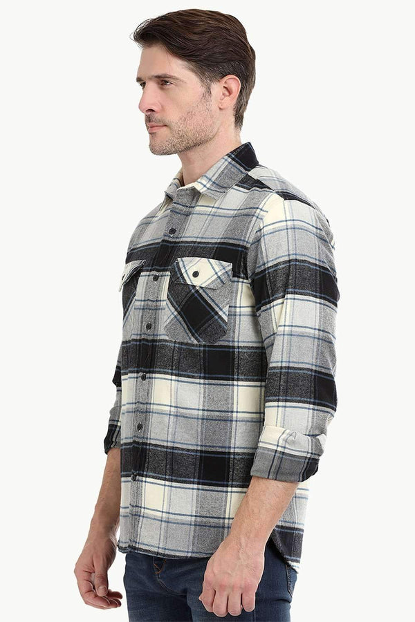 Men's Lumberjack Beige Flannel Shirt