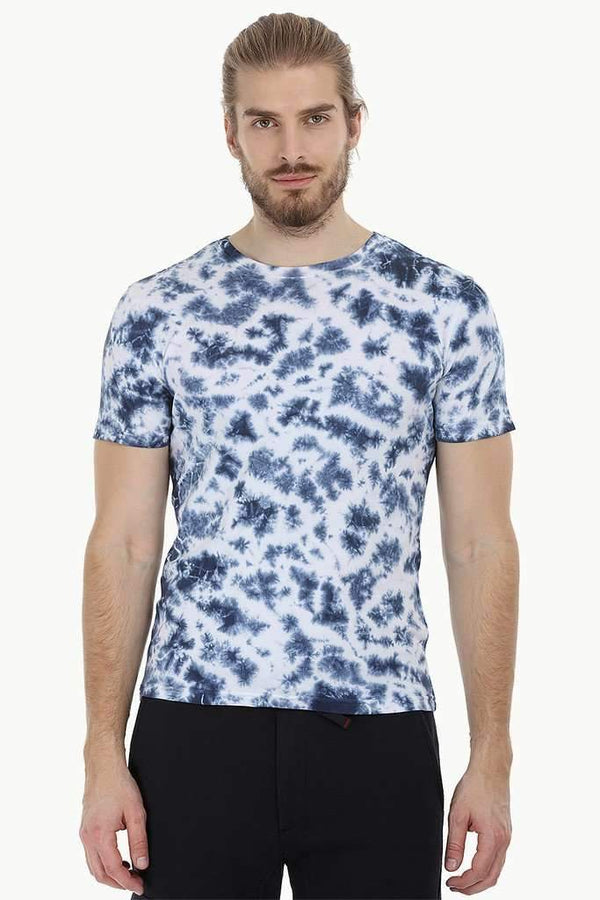 Blotch Effect Tie Dye T-Shirt