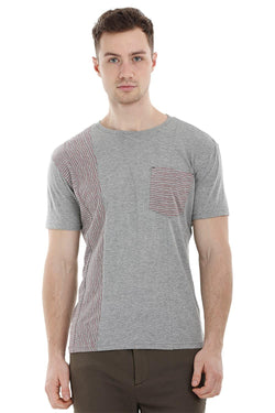 Stripe Block Grey T-Shirt