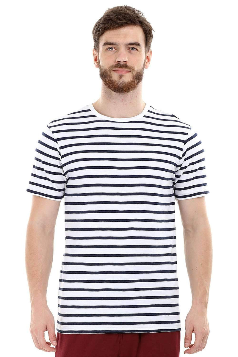 Nautical Stripe Knit Crew T-Shirt