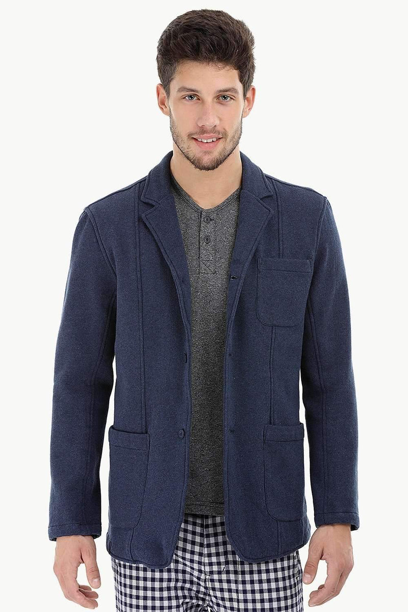 3 Button Fleece Blazer