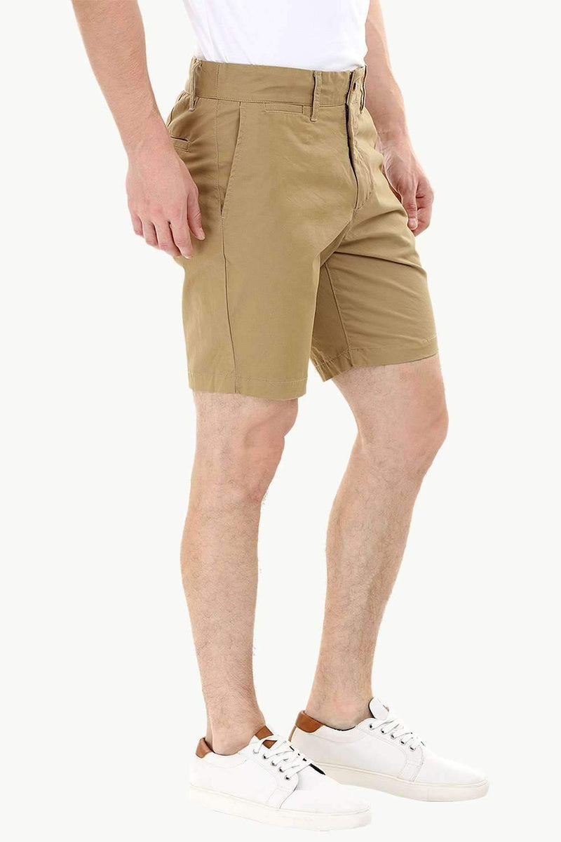 Khaki Twill Summer Chino Shorts