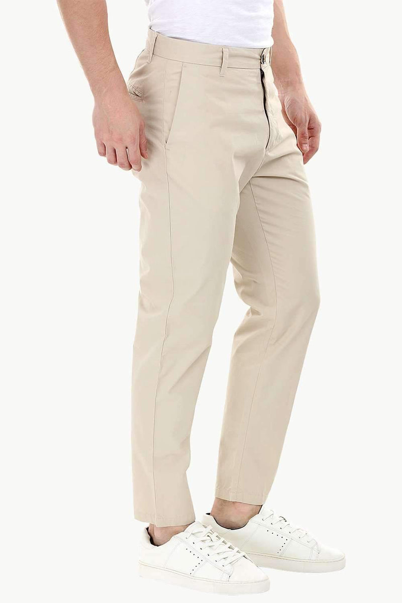 Beige Lightweight Chino Pants