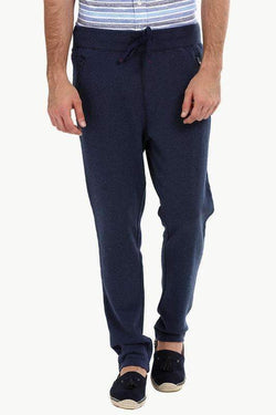 Heather Navy Pull On Sweatpants