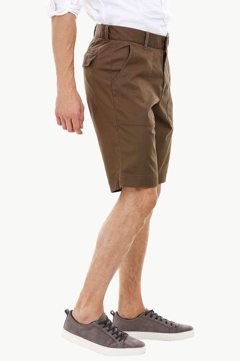 Mens Brown Patch Pocket Summer Shorts