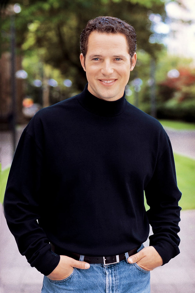 Interlock Knit Turtleneck Sweatshirt