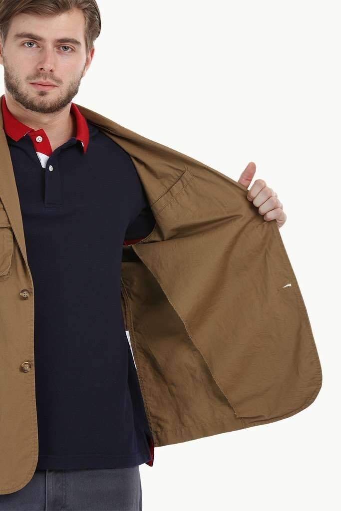 4 Pocket Rugged Khaki Blazer