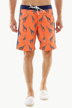 Mens Giraffe Print Quickdry Swimshorts
