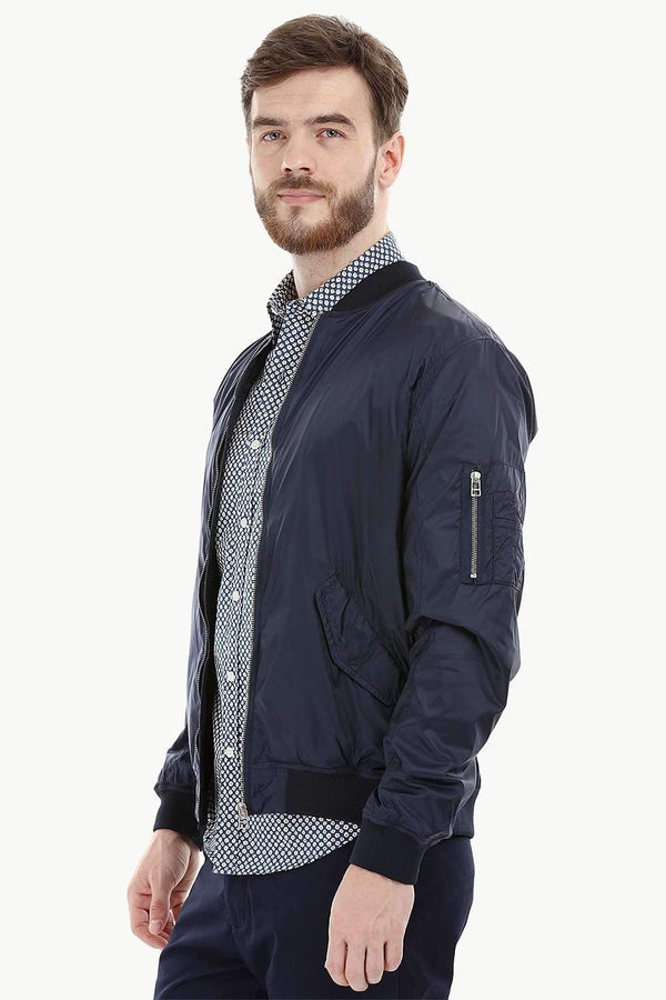 Lightweight Navy Bomber Jacket