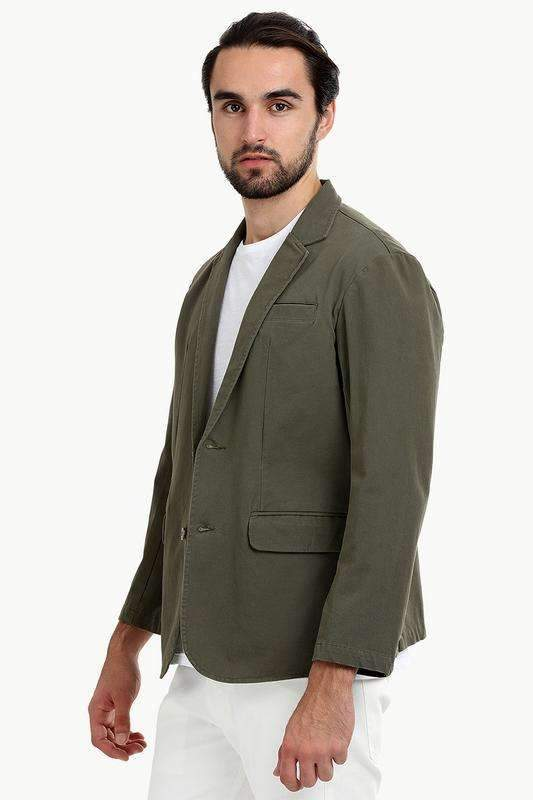 Solid Green Casual Summer Blazer