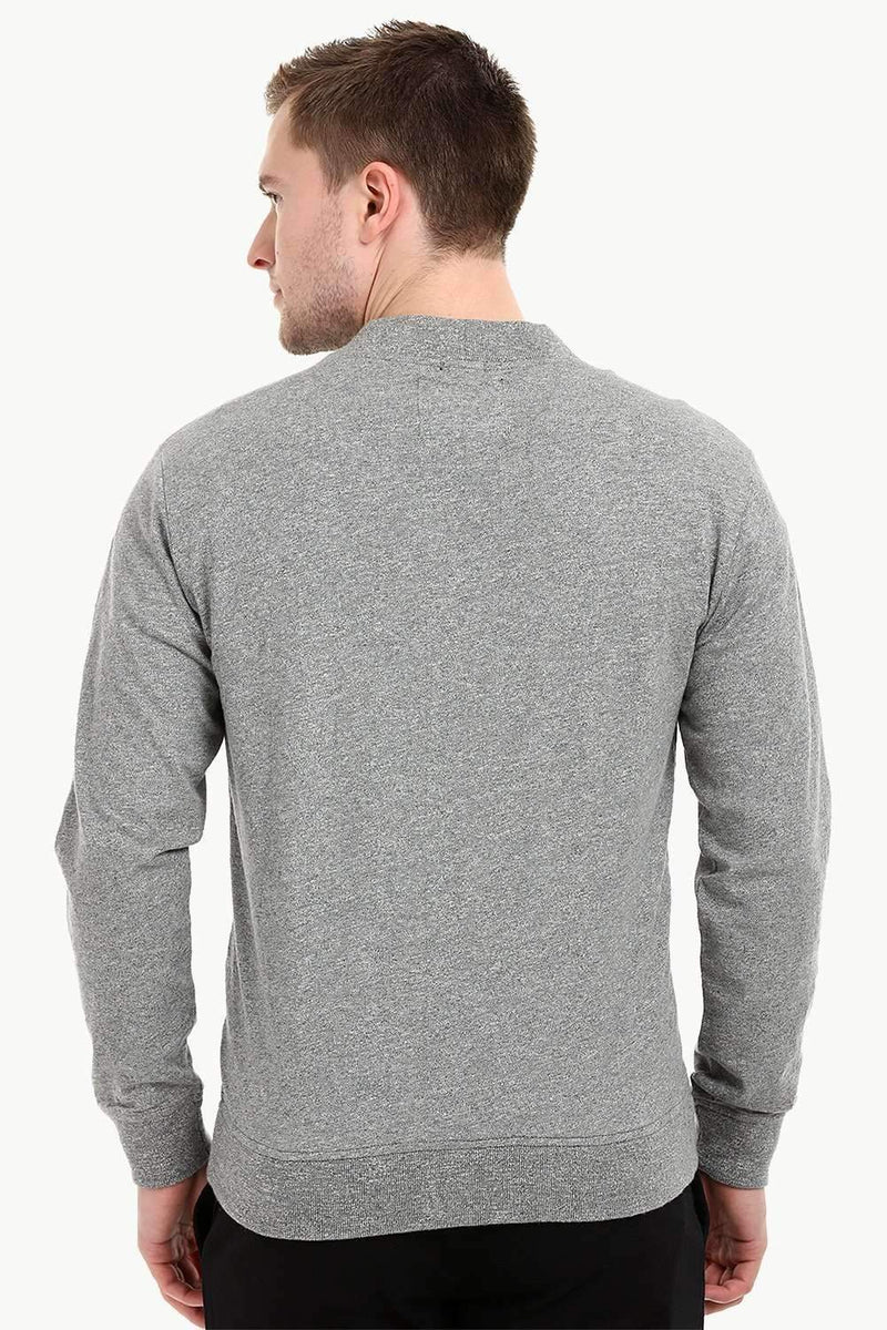 Men's Buttoned Sports Grey English Cardigan