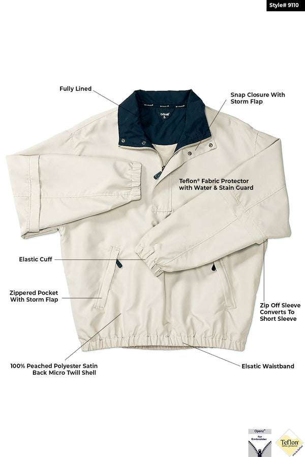 1/4 Zip Ling Sleeve Convertible Jacket